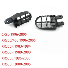 لهوندا XR250 XR 250 400 CR80 XR650L 96 05 XR350R 83 84 XR600R 89 00 XR650R 00 05 الصلب أوتاد القدم Footpegs مسند مساند