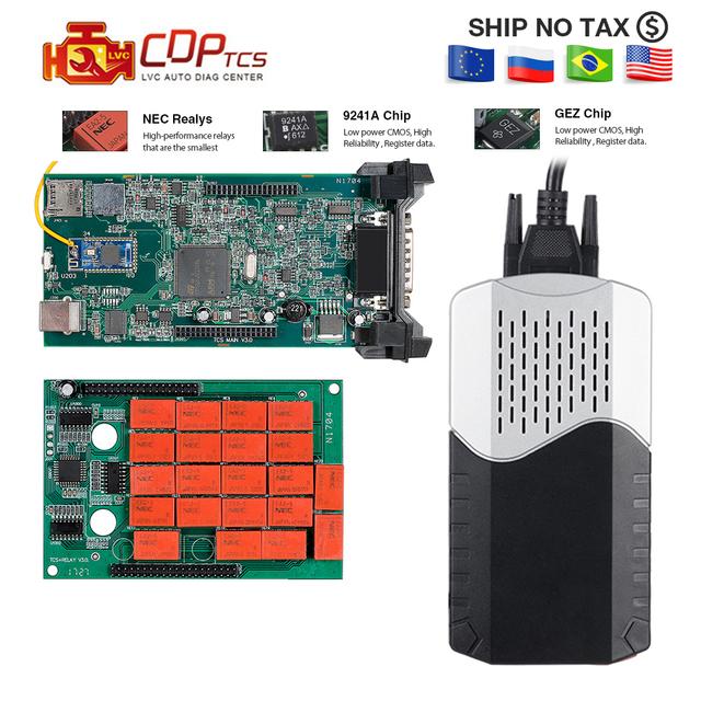 CDP TCS WOW CDP multidiag pro Bluetooth 2016.00 keygen software V3.0 NEC relay obd2 scanner cars trucks OBDII diagnostic tool