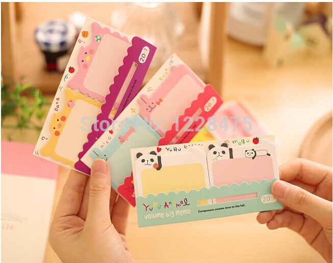 1pcs/Lot Memo pad Post it Cartoon animal lovers big sticky notes notepad stationery office supplies School supplies
