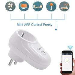Sonoff S26 inteligentne gniazdo WiFi CN/US/EU/UK/AU wtyczki bezprzewodowe gniazdo zasilania Smart domowy przełącznik współpracuje z Alexa asystent Google IFTTT w Inteligentny pilot zdalnego sterowania od Elektronika użytkowa na