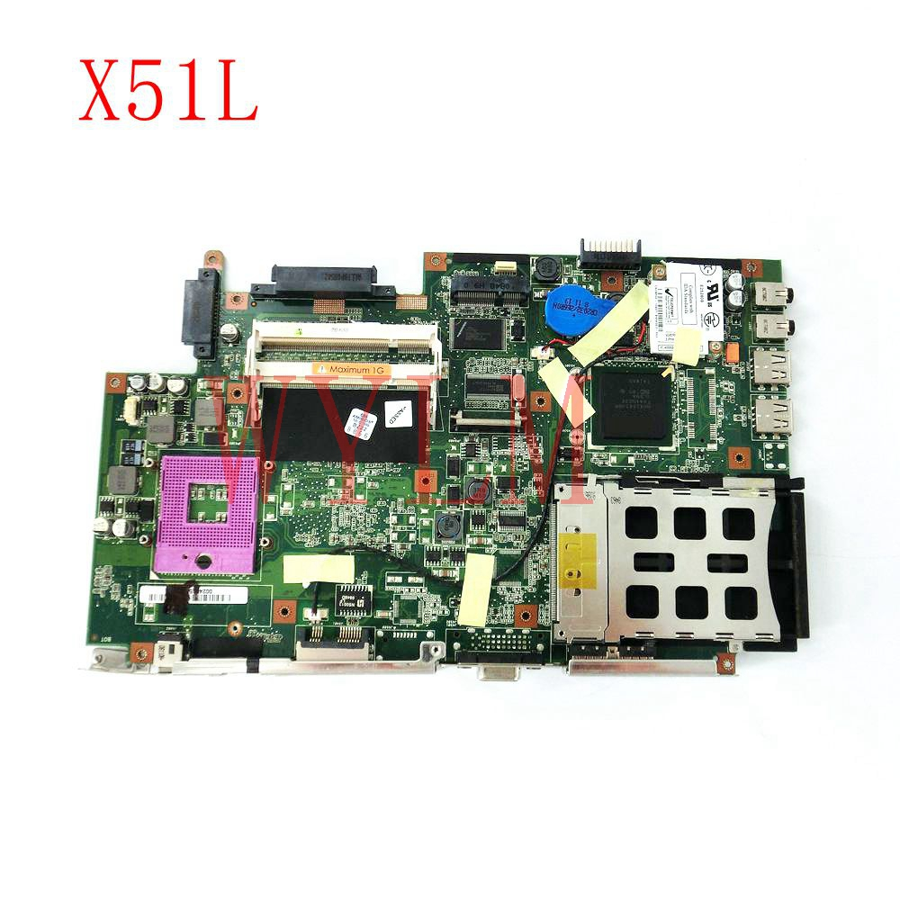 free shipping X51L mainboard REV2.1 For ASUS X51L X58L X51 X58 Laptop motherboard Tested Working Well