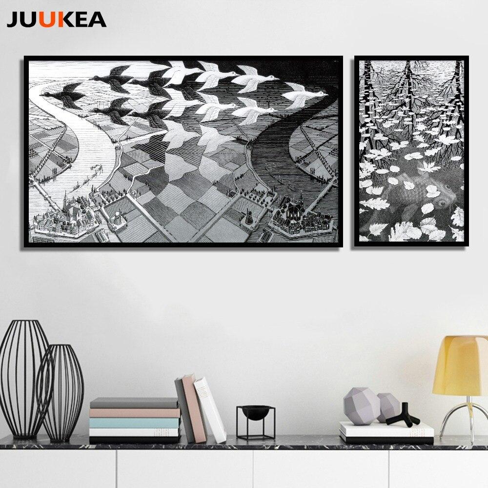 Online kopen wholesale escher art uit china escher art groothandel for Home decoration meester