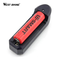 WEST BIKING Bicycle Light Battery 3.7V 18650 4800mAh Rechargeable Battery + Charger for LED Flashlight 1*18650 Batteyr + Charger