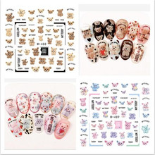 BELESHINY 1psc nail art Stickers 3d Beauty Water transfer Sticker for Nails feather Nail Art Charms Manicure Decals Decorations цена