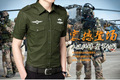 Military Style Air Force One Pilot Men's Short Sleeved Shirt  Usa Army Spring and Autumn Shirt 3 Colors