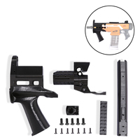 Trabajador f10555 3D Impresión JSSAP SMG Delantero Kit de Tubo Profesional Pistola de Juguete Accesorios para Nerf Stryfe-Negro