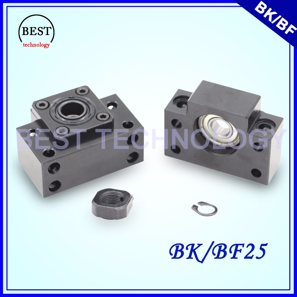 BK25 + BF25 Ball Screw End Machine Support BK 25 & BK25 For Ball Screw SFU3205 / SFU3210 BK/BF 25