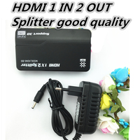 1080P 3D Mini 2 Port HDMI Splitter Switcher 1x2 1 In 2 Out HDMI Distributor Splitter