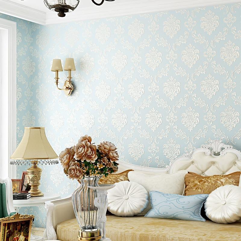 Beibehang Flowers European Modern Wallpaper For Living Room Home Decor Wall Paper Roll 3D Murals Covering