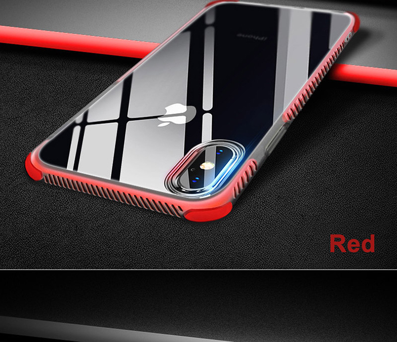 Military grade Anti-knock Case For iPhone X iPhone 7 case soft clear Transparent 2 in 1 TPU+TPE Cover for iPhone 6 6s 7 8 plus (17)