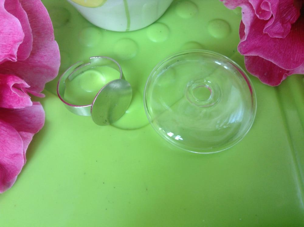 Free shipping !! 30sets 27MM Flat Bubble Liquid Rings,glass bubble rings,Glass Globe Bottle Rings,glass globe rings