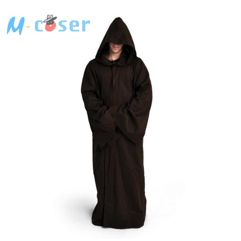 Star Wars  Jedi Robe Darth Vader Terry Cosplay Costume Jedi Cloak Bath Robe Full set