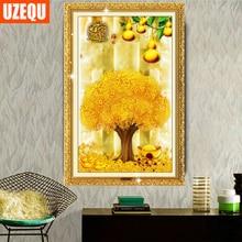 UzeQu 5D DIY Diamond Painting Cross Stitch Gourd Shaking Money Tree Diamond Embroidery Diamond Mosaic Painting Rhinestones Tree