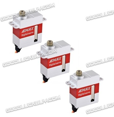 3pc EMAX ES9256 HV Swash&Rotor Tail Metal Gear Digital Servo for Helicopter цена