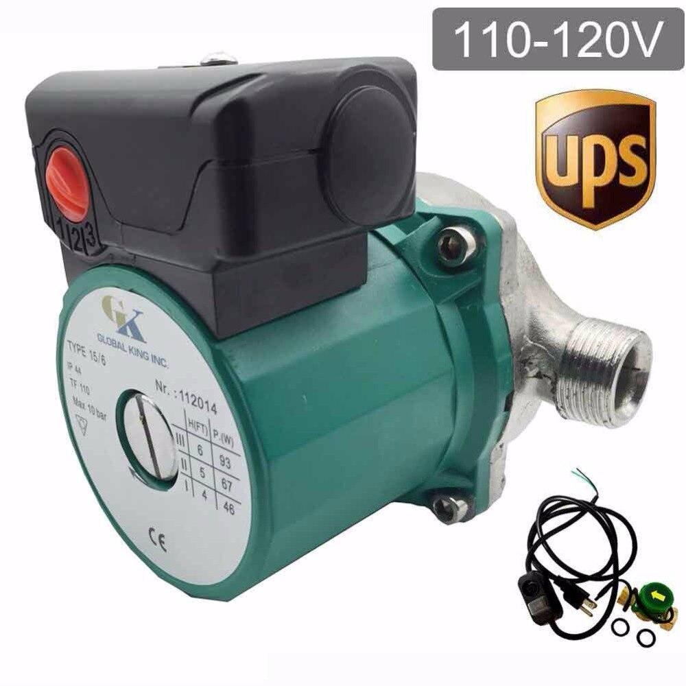NPT 3/4'' Automatic Circulation Pump 220V,3 Speed Hot Water Circulation/Circulating Pump