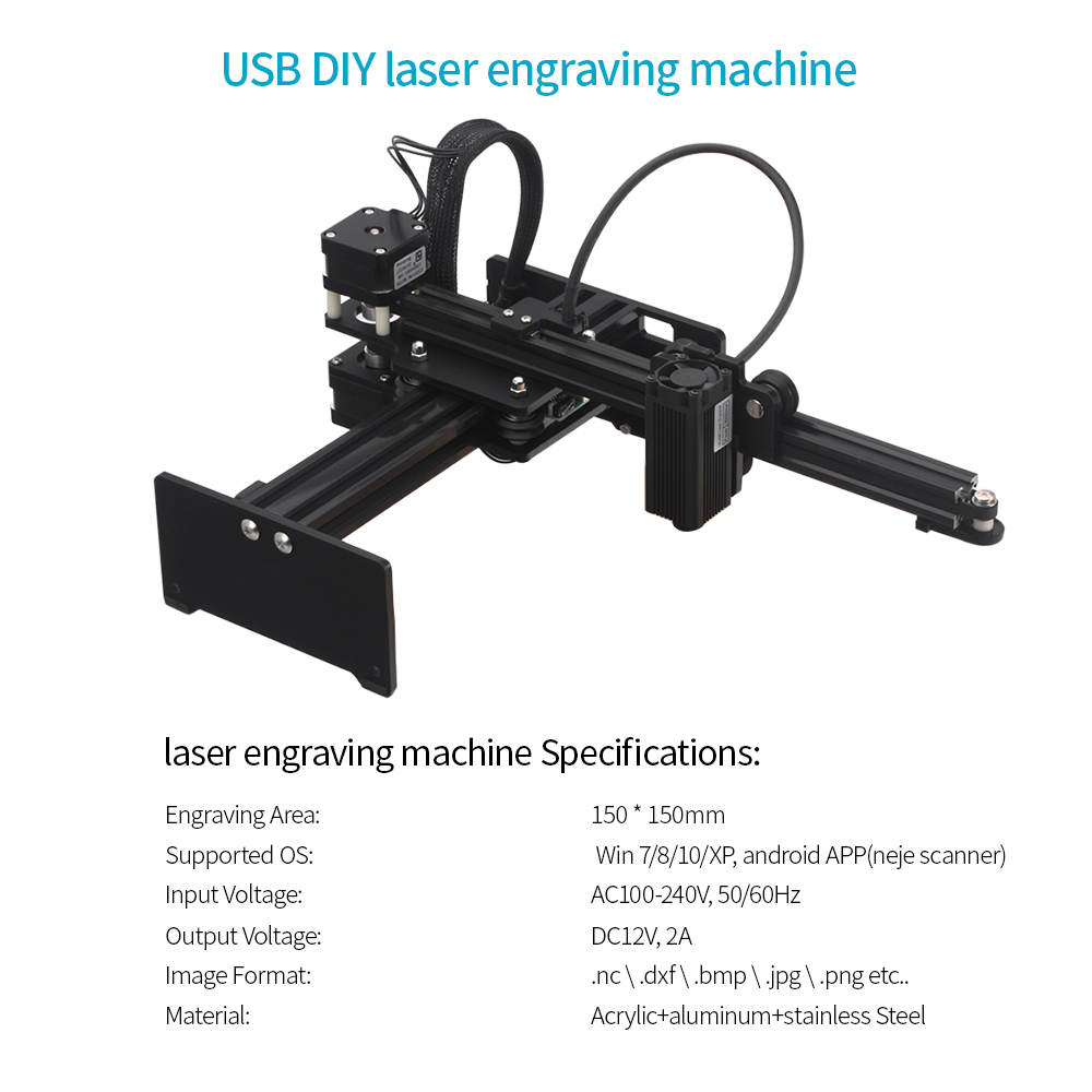 3500mw High Speed mini CNC Laser Engraver Portable DIY Engraving Machine for Metal Wood Router Paper Cutter Desktop Cutter in Wood Routers from Tools
