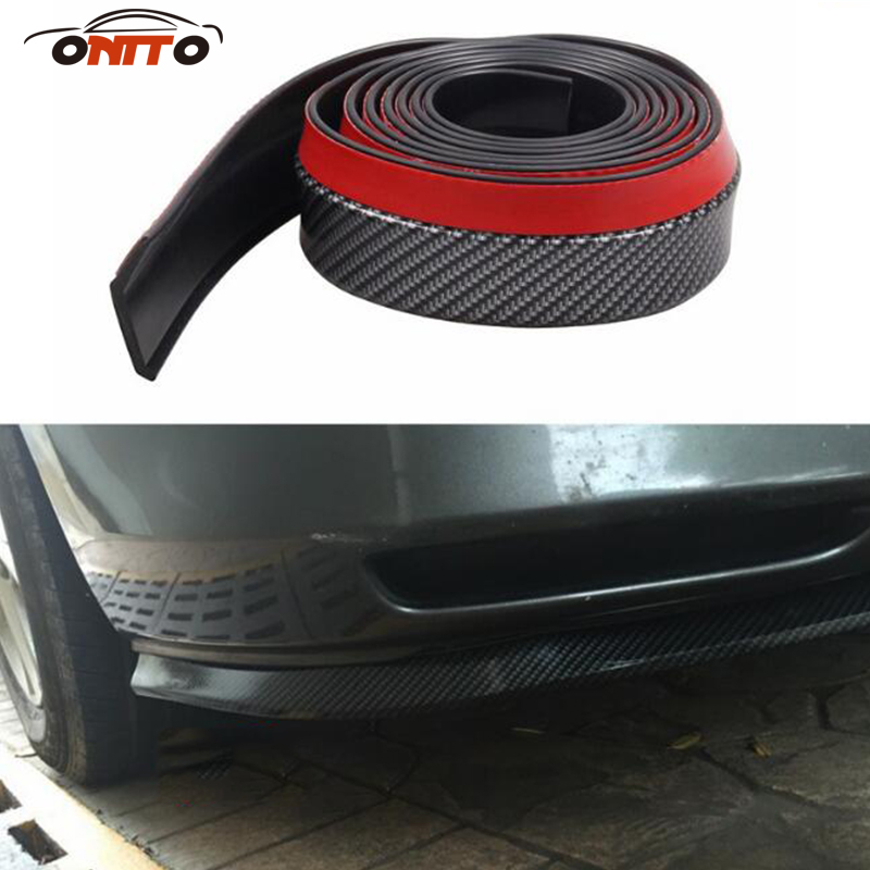 2.5M auto bumper carbon fiber Rubber protection Anti collision car strips For kuga fusion fiesta transit mustang