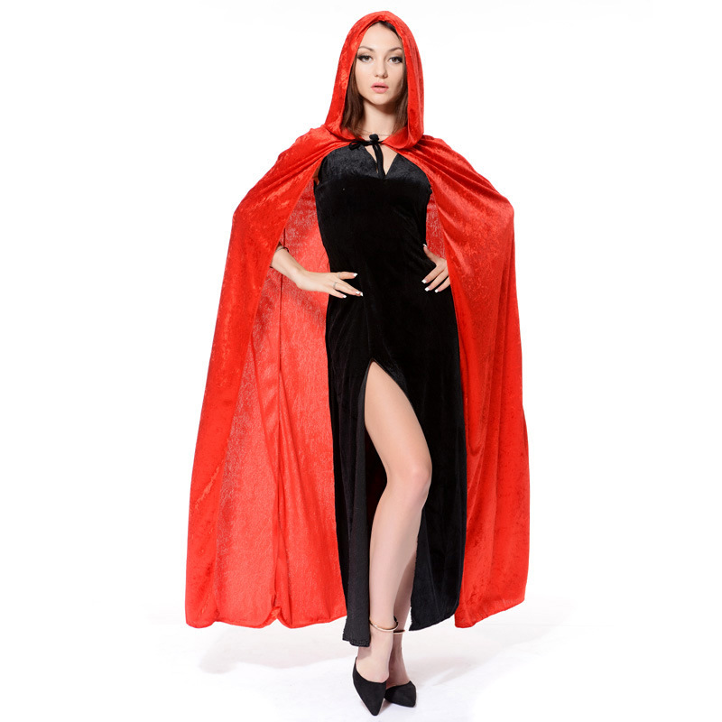 New Adult Kids Halloween Costume Cloak Hooded Wizard Robe Vampire Cosplay Costume Hot