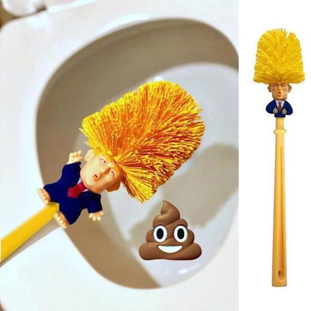 Brosse toilettes Donald Trump