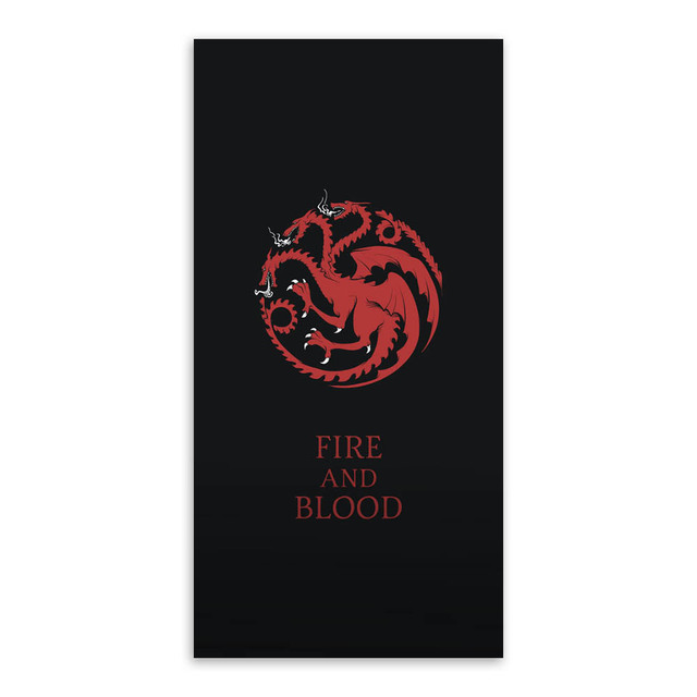 Game Of Thrones Logo Flag Movie TV Animals Canvas Art Print Poster Vintage Wall Picture Boy Living Room Decor Painting No Frame 5