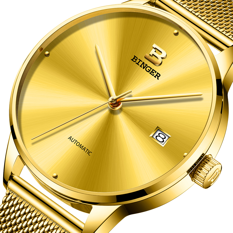 2017 New BINGER Mens Watches Brand Luxury automatic mechanical Men Watch Sapphire Wrist Watch Male relogio masculino B-5080M-10 new binger mens watches brand luxury automatic mechanical men watch sapphire wrist watch male sports reloj hombre b 5080m 1