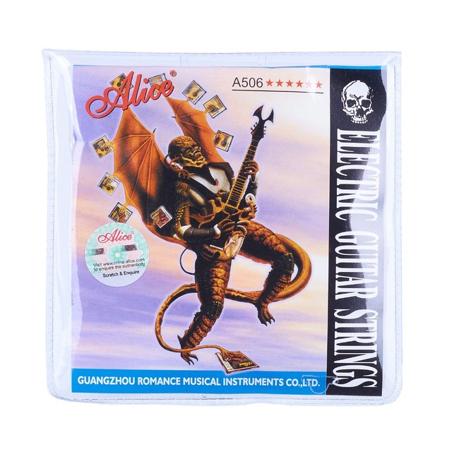 Alice 6-string Electric Guitar Strings Accessories Musical Instruments Coated Steel Core Nickel Alloy Wound A506XL A506SL A506L