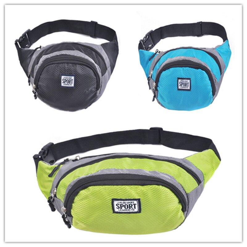 3 Paquetes de la Cintura Ceñida Riñonera Hombres Mujeres Color Ligero Deporte de
