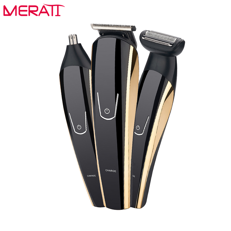 3 IN 1 Titanium Blade Professional Hair Clipper Electric Tools Hair clipper Hair Cutter for Men's Grooming Set new 680w sheep wool clipper electric sheep goats shearing clipper shears 1 set 13 straight tooth blade comb
