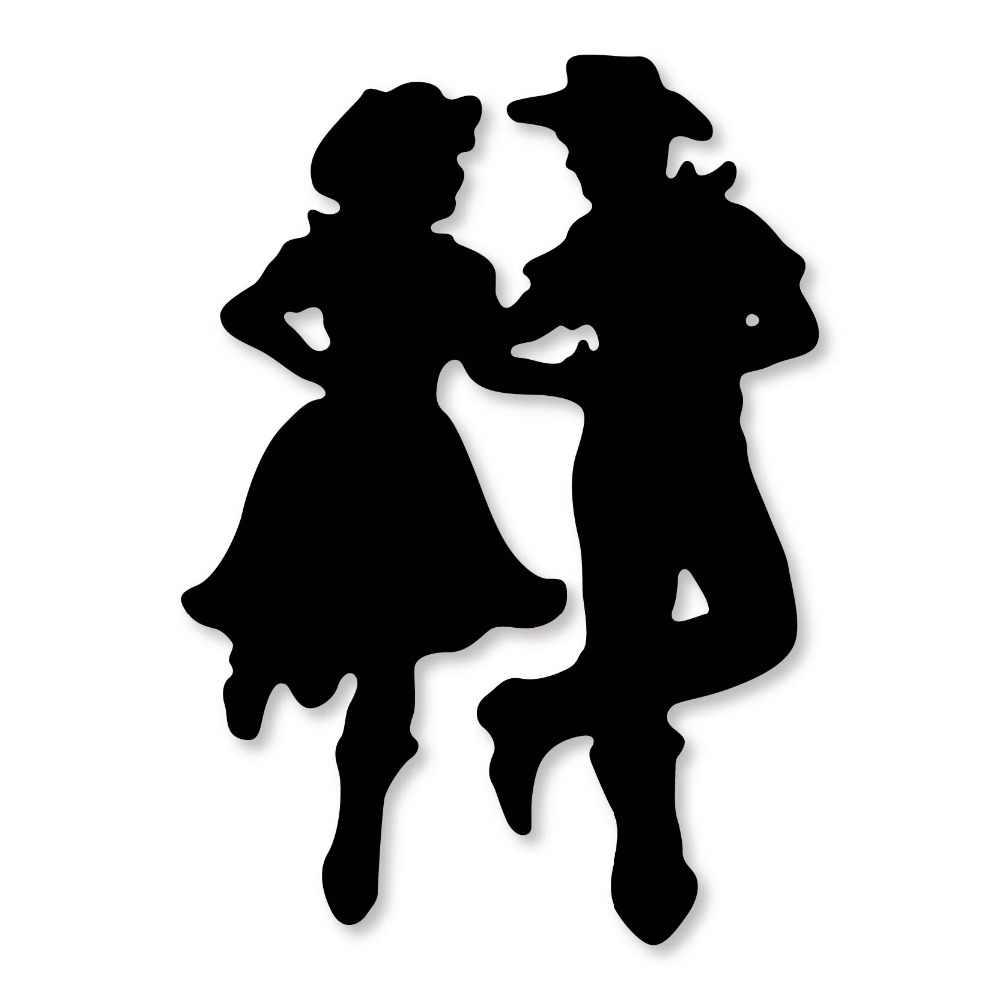 Love Cowboy Couple Dancing Frame Metal Cutting Die Stencil Diy Scrapbooking Photo Album Paper Card Decor Craft Die Cuts 2019 New Aliexpress