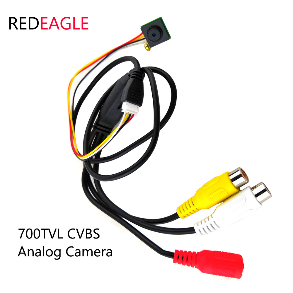REDEAGLE CVBS Mini CCTV Security Camera 700tvl CMOS Home Video Audio Analog Camera AV Output