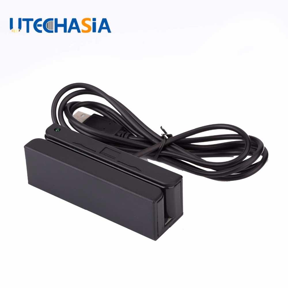 10Pcs Magnetic Card Reader MSR100 USB RS232 PS2 3 Tracks Stripe MSR MCR Ship From US UK CN