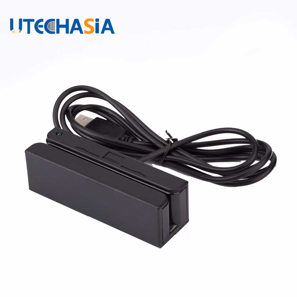 10Pcs Magnetic Card Reader MSR100 USB RS232 PS2 3 Tracks Stripe MSR MCR Ship From US UK CN(China)