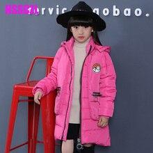 2016 новые девушки пуховики зима сгущает девушка пальто верхняя одежда съемный 90% вниз детей куртка пальто ребенок длинные пальто