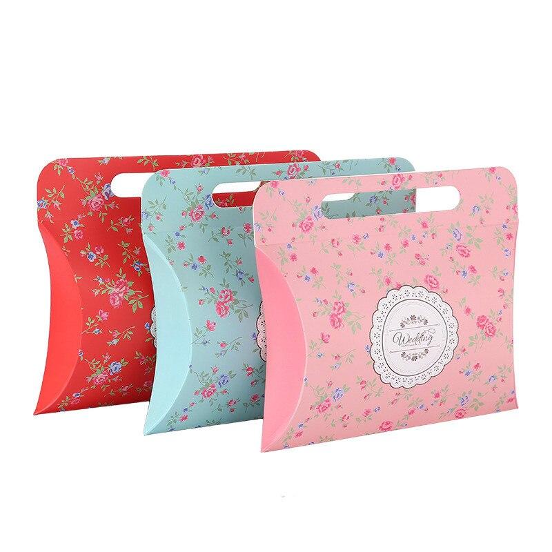 Ferimo 100 pcs Rose/Rouge sac de cadeau de bonbons de mariage party favor paquet