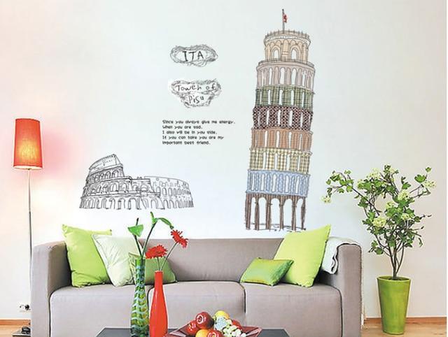 Pisa scheve toren slaapkamer woonkamer romantische decoratieve