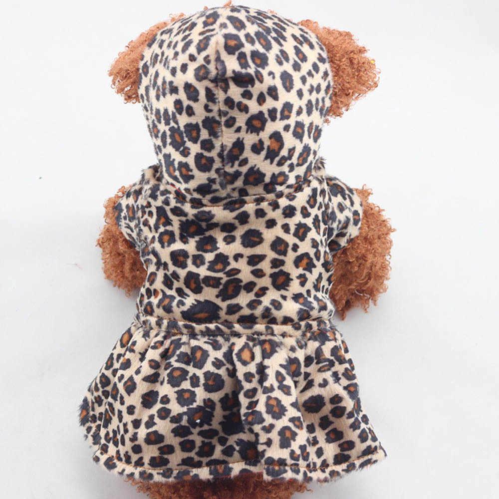 Gli animali domestici I Cani Del Modello Del Leopardo Tutu Vestito Da Cappotto Cucciolo di Felpe Entrambi I Lati di Usura Vestiti Del Cane cani animali domestici vestiti del cane di grandi dimensioni одежда для соба