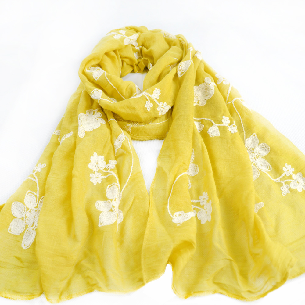 buy wholesale yellow silk scarf from china yellow