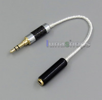 4pin 3.5mm Female Silver Plated TRRS Re Zero Balanced To 3pin Male Cable For Hifiman HM901 HM802 Headphone Amplifier LN005219