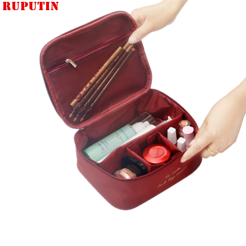 RUPUTIN New Fashion Travel Lady Cosmetic Bag Make Up Organizer Beautician Portable Storage Bags Large Capacity Women Makeup Bag