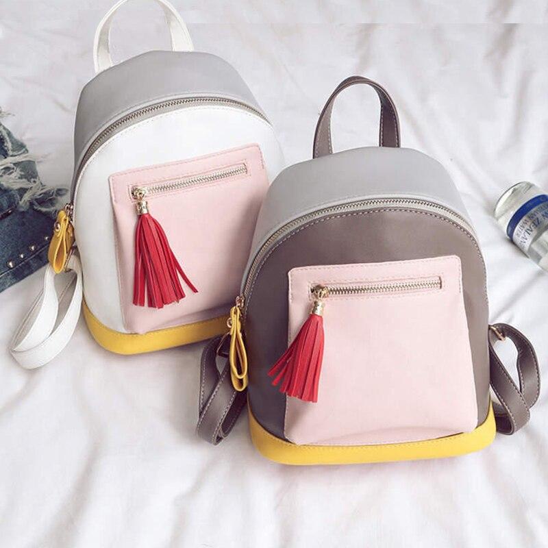 2017 Vintage tassel Sweet Backpack Classic Backpacks For Women Fashion Bags School Luxury hit color Bags