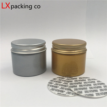 100 pcs  Free Shipping 30 40 50 80 g Gold Silver Plastic Empty Jar bottles Aluminum Lid Spice Cream Candy Container Bank