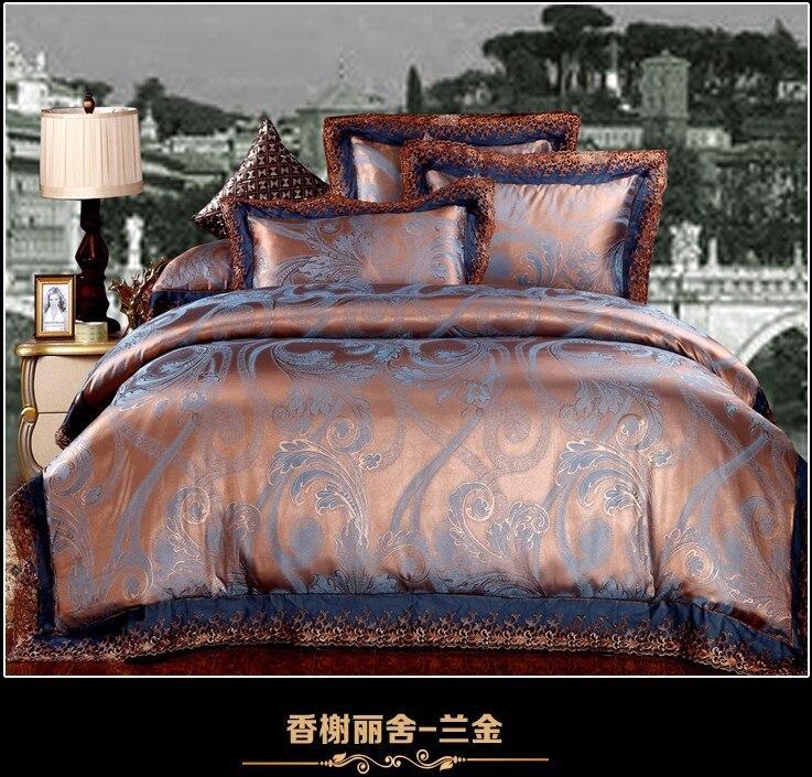 popular blue gold comforter buy cheap blue gold comforter lots from china blue gold comforter. Black Bedroom Furniture Sets. Home Design Ideas