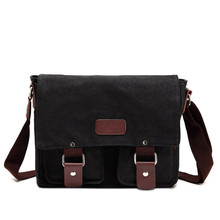 Restoring ancient ways is inclined shoulder  Men's canvas shoulder student leisure bag