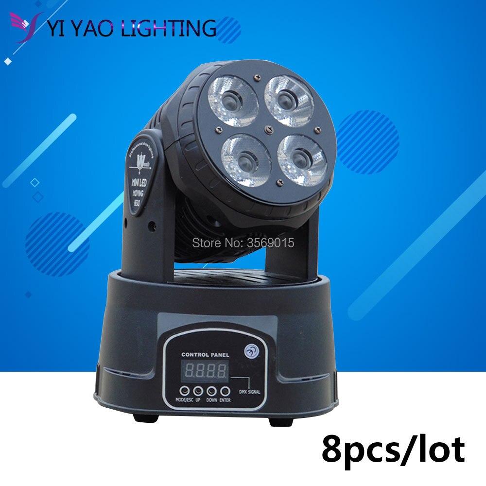 8pcs/lot 4x20w LED Moving Head light/ Mini wash light/RGBW 4in1 disco dj lights