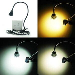 Image 2 - Led デスクランプクリップフレキシブル Led 読書ランプ 5 ワット 220V 電源 Led ブックランプ子供たち家庭用照明