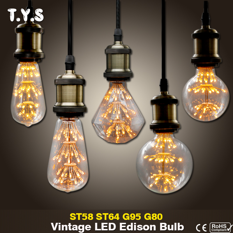 все цены на lampada vintage Edison Bulb E27 Vintage Led Filament Light Bulb Retro LED Energy Saving Lamp Replace Incandescent Filament Bulb