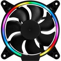 120mm 4 Pin Silent RGB CPU Cooling Fan Cooler LED Light Computer Gaming Cooling Radiator 1500RPM
