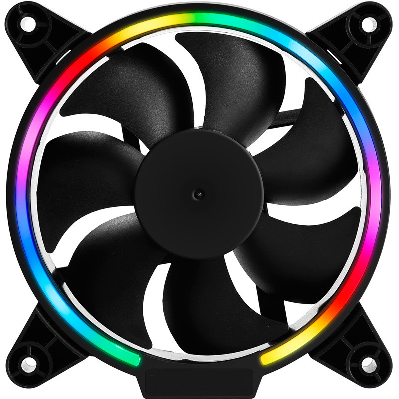 120mm 4 Pin Silent RGB CPU Cooling Fan Cooler LED Light Computer Gaming Cooling Radiator 1500RPM Heatsink For Desktop PC Case 4pin mgt8012yr w20 graphics card fan vga cooler for xfx gts250 gs 250x ydf5 gts260 video card cooling