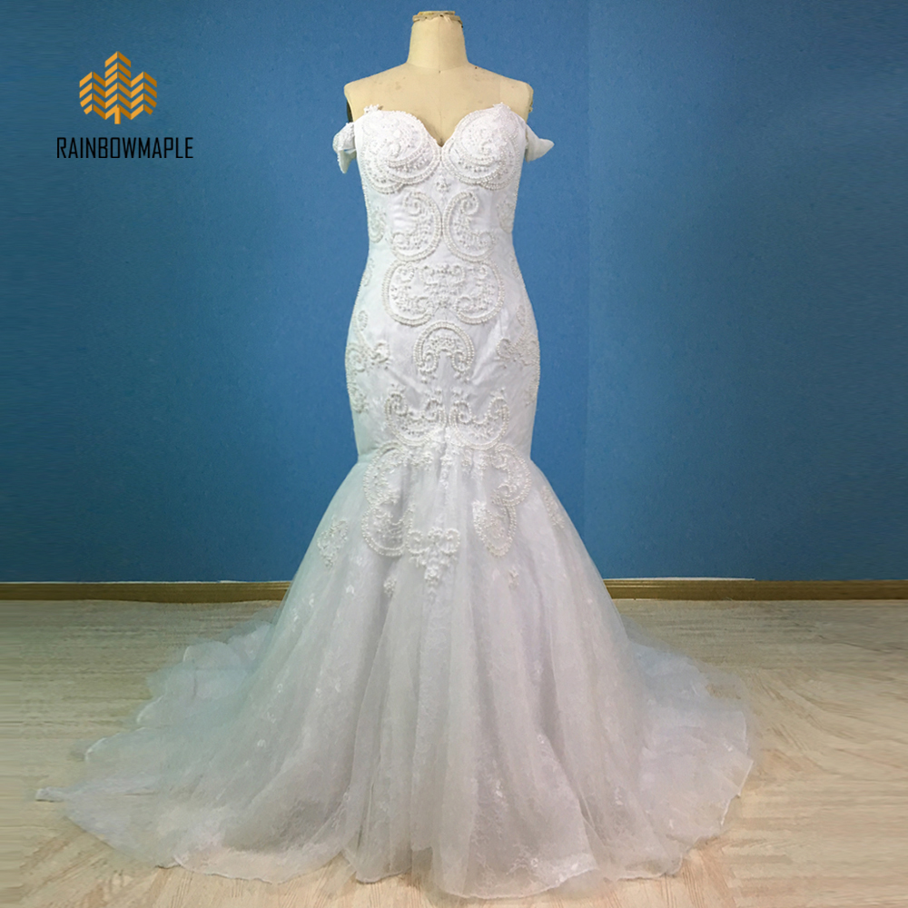 Cheap White Ivory Wedding Dresses Mermaid Lace Appliques: White/Ivory Vintage Weeding Dresses 2017 Sexy Backless