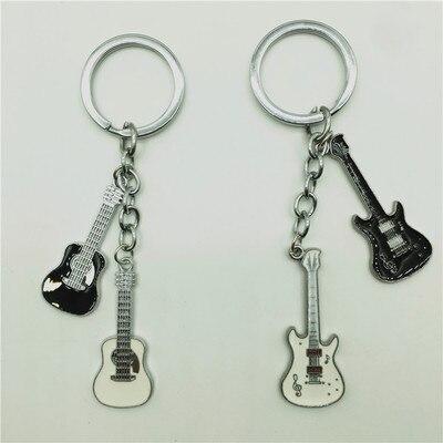 Personnalité italienne instrument de musique guitare métal porte-clés taille voiture porte-clés chaîne